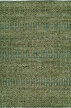 Transitional 4X6 Blue Wool Area Rug