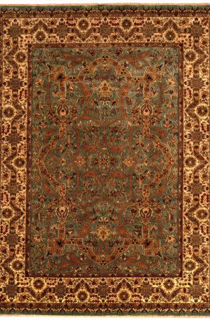 Tabriz 9X12 Blue Wool Area Rug