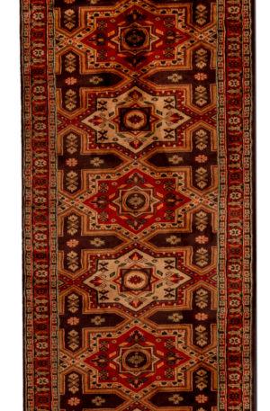 Jaldar Design Runner Brown Beige Wool Area Rug