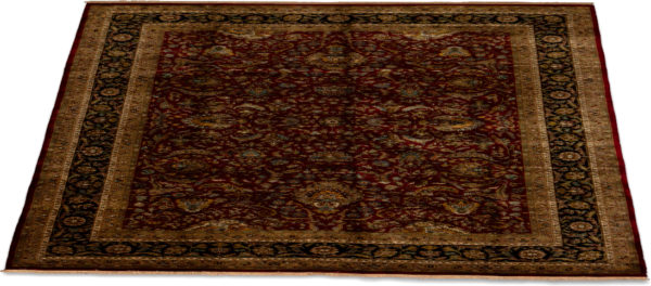 10X14 Red Black Wool Area Rug