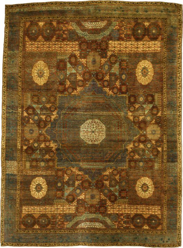 Turkish Mamluk 10X14 Wool Area Rug