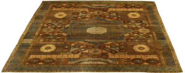 Turkish Mamluk 10X14 Red Wool Area Rug
