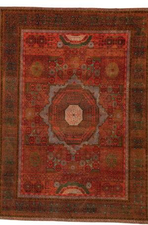 Turkish Medallion 10X14 Red Green Wool Area Rug