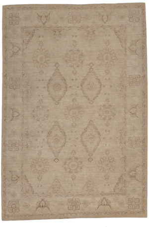 Chobi Design 6X9 Beige Beige Wool Area Rug