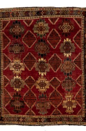 Persian Shiraz 6X9 Red Black Wool Area Rug