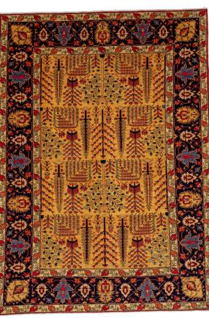 James Opie 10X14 Gold Blue Wool Area Rug
