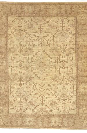 Afghan 9X12 Beige Gray Wool Area Rug