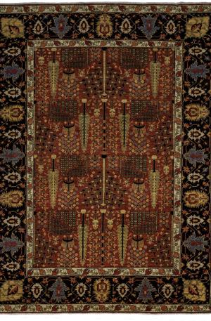 James Opie 9X12 Red Blue Wool Area Rug