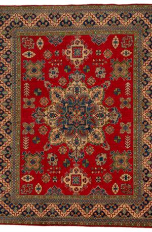 Kazak Design 8X10 Red Multi Wool Area Rug