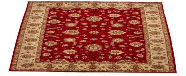 Chobi Design 10X14 Red Ivory Wool Area Rug