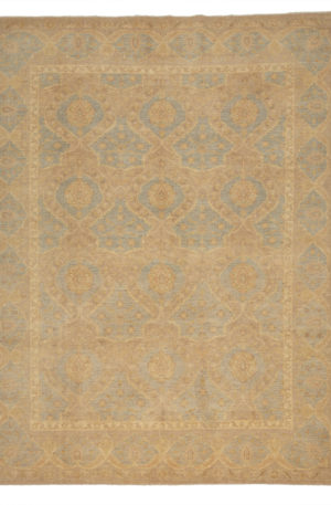 Chobi Design 8X10 Grey Beige Wool Area Rug