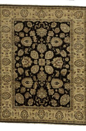 Chobi Design 4X6 Brown Beige Wool Area Rug