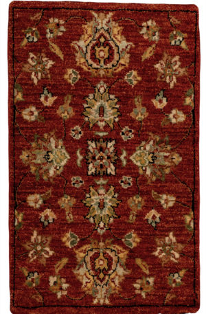 1X2 Red Wool Area Rug