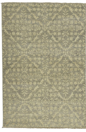 Transitional 4x6 Grey Wool Area Rug