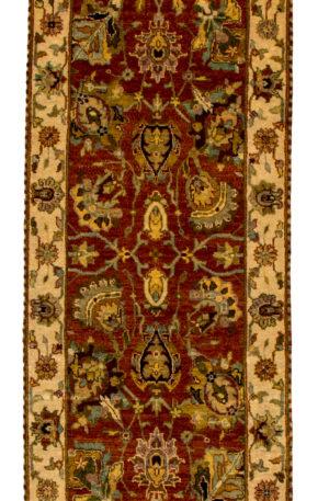 Runner Red Ivory Wool Area Rug