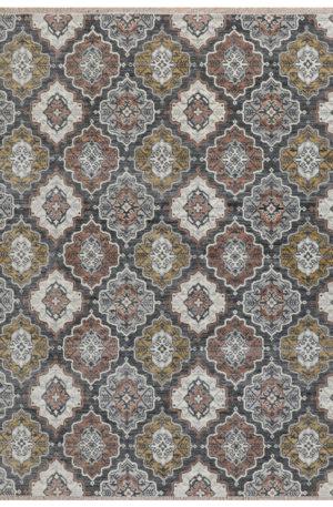 Transitional Design Charcoal Wool 8x10 Anatolian Area Rug