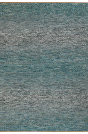 Contemporary Design Teal Wool 4x6 Amazon Area Rug