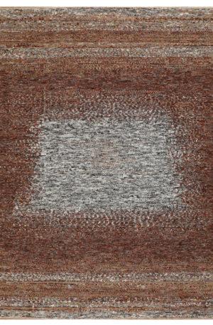 Contemporary Rust/Beige Wool 8x10 Amazon Area Rug