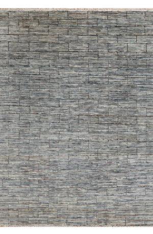 Transitional Design Grey Wool 8x10 Soft Melody Area Rug