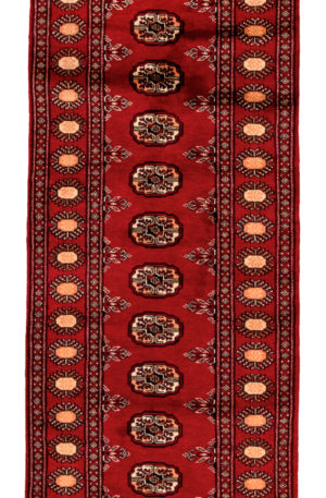 Bokhara Design Runner Red Red Wool Area Rug