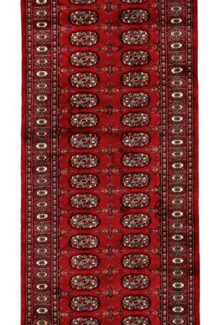 Bohkara Design Runner Red Red Wool Area Rug