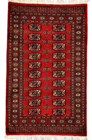 Bohkara Design 3X5 Red Red Wool Area Rug
