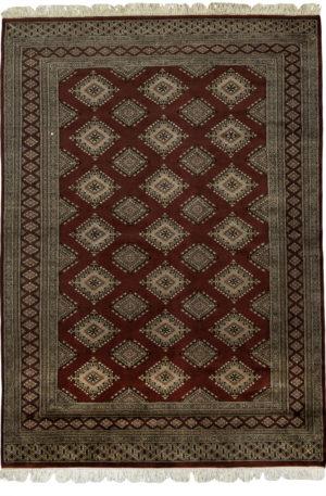 Bohkara Design 5X8 Red Brown Wool Area Rug