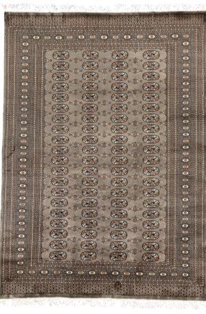 Bohkara Design 5X8 Gray Wool Area Rug