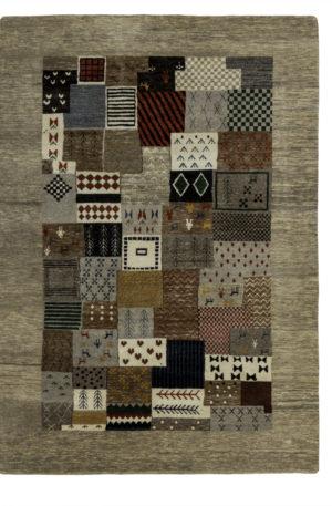 Loribaft Gabbeh India 5X8 Multi Wool Area Rug