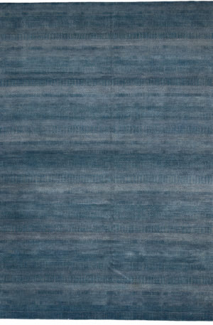 Contemporary 9X12 Blue Wool Area Rug