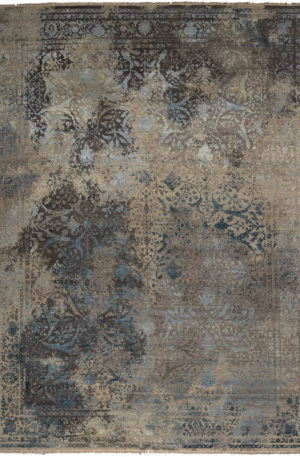 Transitional 9X12 Gray Wool Area Rug