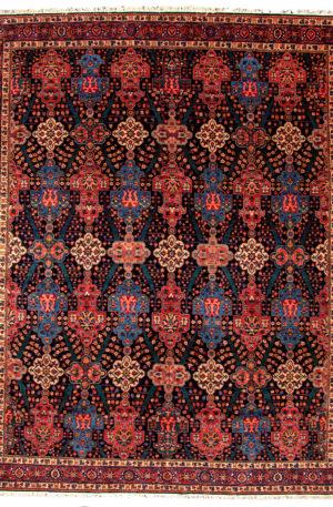 Persian Bidjar 10X14 Blue Red Wool Area Rug