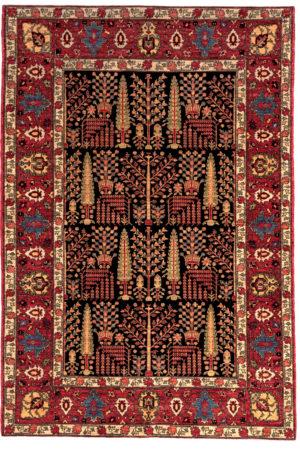 Afghan 6X9 Blue Red Wool Area Rug