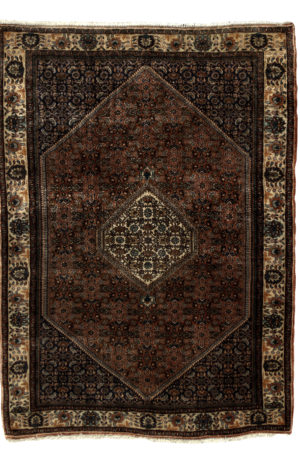 Persian Bidjar 3X5 Red Ivory Wool Area Rug