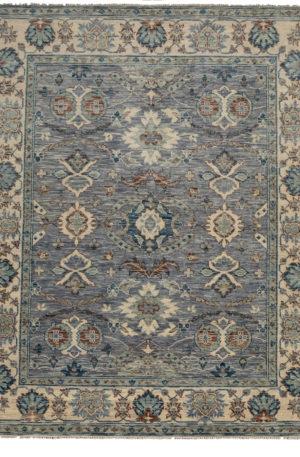 8X10 Gray Ivory Wool Area Rug