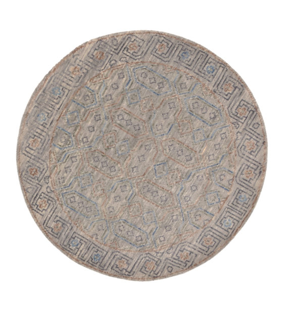 Transitional 4X6 Gray Wool Area Rug