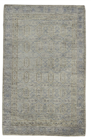 Transitional 5X8 Gray Wool Area Rug