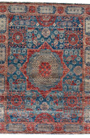 8X10 Blue Brown Wool Area Rug