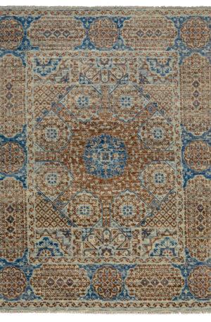 8X10 Grey Blue Wool Area Rug