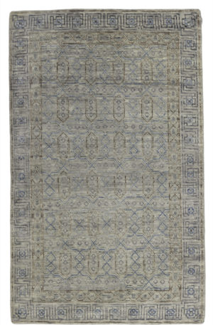 Transitional 5X8 Gray Gray Wool Area Rug