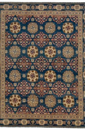 8X10 Blue Blue Wool Area Rug
