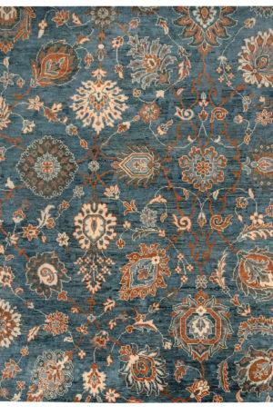 8X10 Blue Wool Area Rug