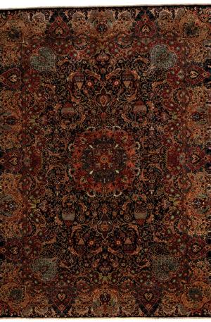 9X12 Black Wool Area Rug