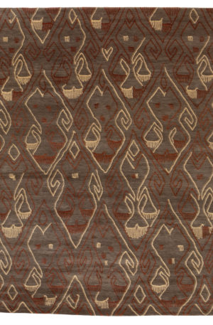 Contemporary Nepal 8X10 Wool Area Rug