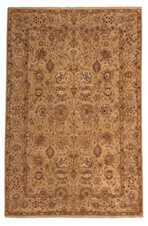 6X9 Beige Beige Wool Area Rug