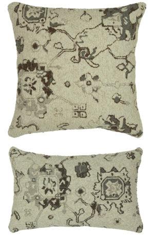 Flat Weave Silver & Grey Pillow
