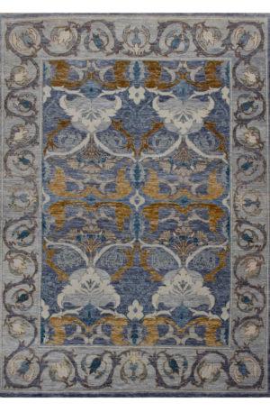 Transitional Design Charcoal/Grey Wool 9x12 Anatolian Area Rug