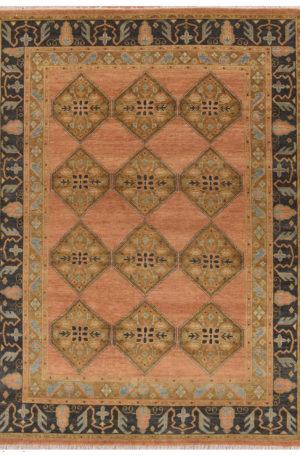 Traditional Design Rust/Blue Wool 9x12 Heriz Area Rug