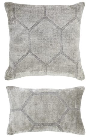 Hand-knotted Ivory Pillow