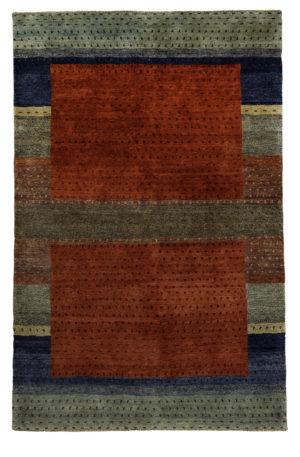 5X8 Red Multi Wool Area Rug
